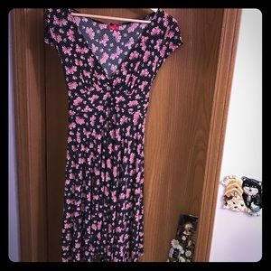 Flirty Vintage Floral Mini Dress Size L